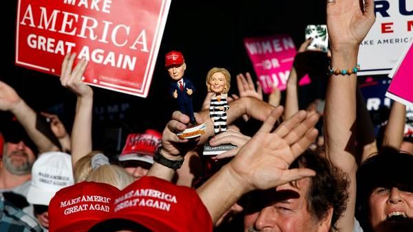 Apoyo. Simpatizantes de Donald Trump, en un acto republicano en Minneapolis (AP).