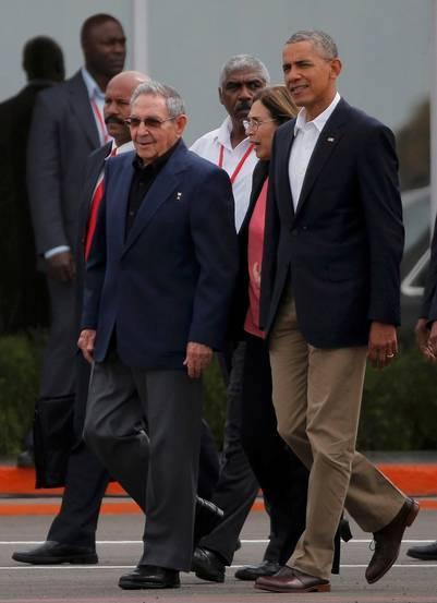 Barack Obama junto a Raúl Castro, en la histórica visita del norteamericano a Cuba. / Reuters