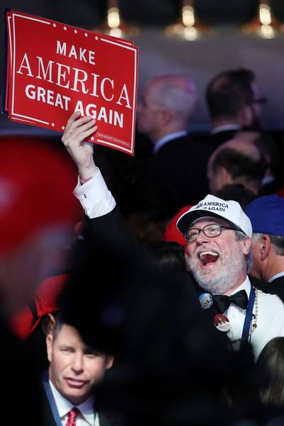 """Make America Great Again"", el leit motiv de la campaña de Donald Trump. (Mark Wilson/Getty Images/AFP)"