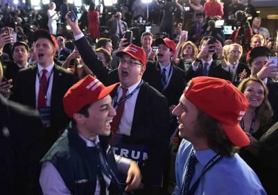Los seguidores de Donald Trump no salen de su asombro por la increíble elección. AFP PHOTO / Mandel NGAN