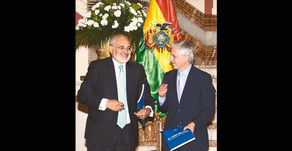 El vicepresidente Álvaro García Linera cuestionó ayer al expresidente Carlos Mesa