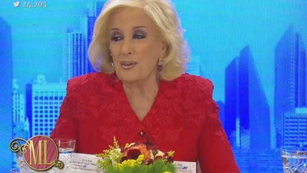 Mirtha se sinceró ante todos los invitados a su mesa. (Captura TV)