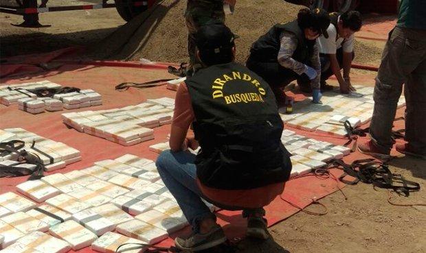 La Dirandro incautó 670 kilos de cocaína