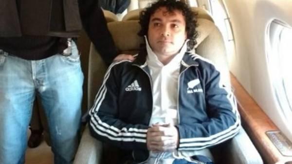 """Henry de Jesús López Londoño (45, alias """"Mi Sangre"""") fue extraditado a Estados Unidos en un operativo sorpresa."""