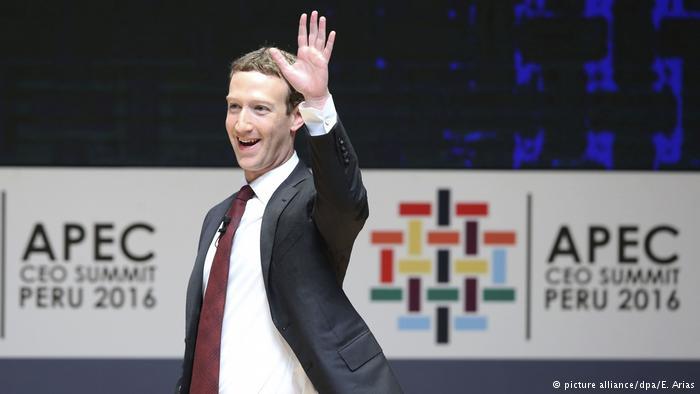 Peru APEC-Gipfel Mark Zuckerberg (picture alliance/dpa/E. Arias)