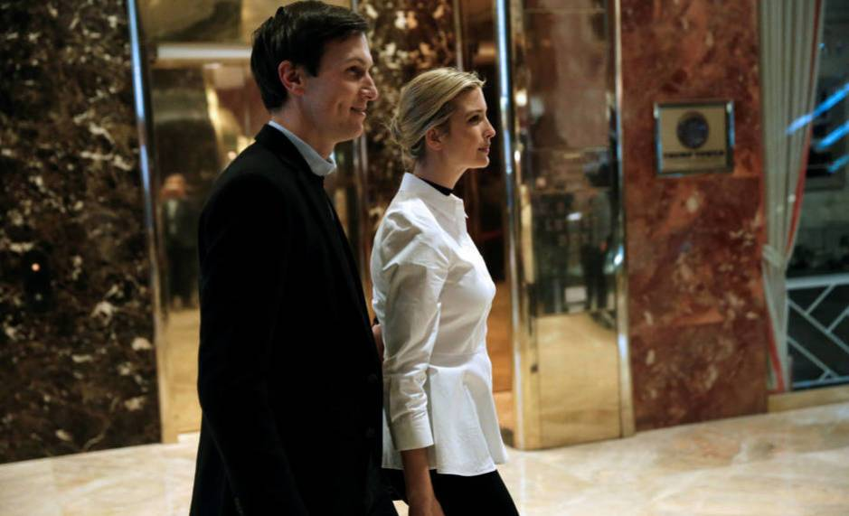 Jared Kushner, junto a su esposa Ivanka. (Reuters)
