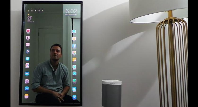 Resultado de imagen para Espejo inteligente con iOS o algo parecido creado por un desarrollador