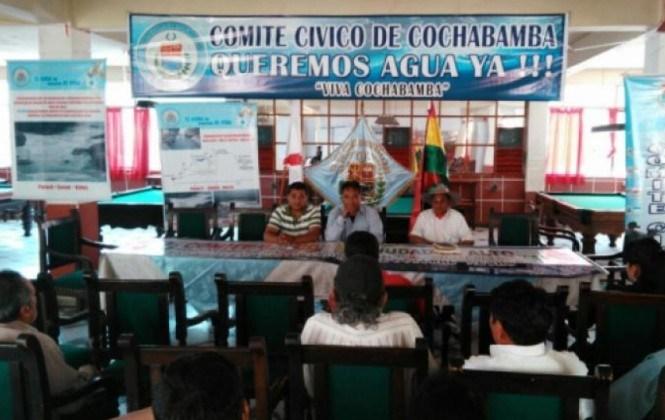 Cívicos de siete ciudades convocan a una marcha nacional por la crisis del agua
