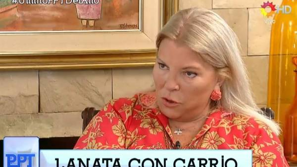 Lanata con la diputada Elisa Carrió