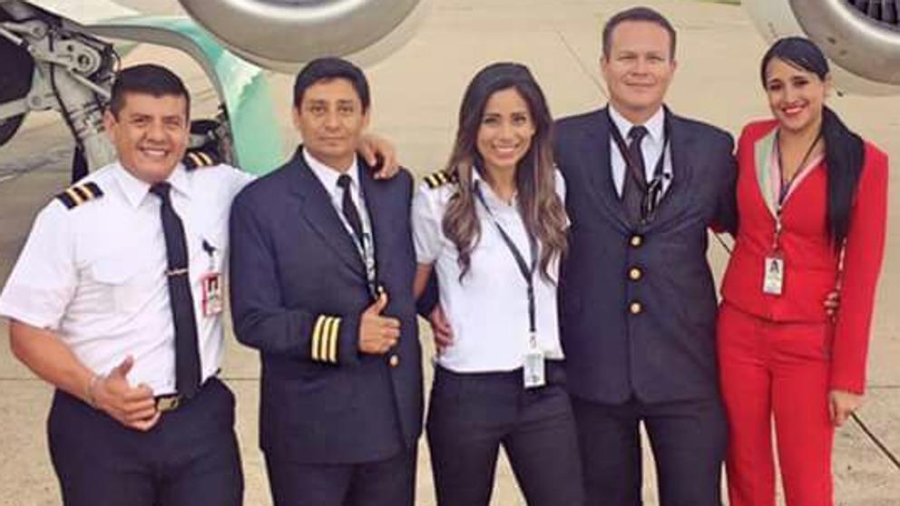 Sisy Arias, hija de un famoso periodista boliviano, formaba parte de la tripulación