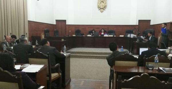 Esta es la audiencia instalada en Sucre por el caso Focas