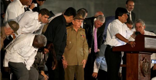 Morales indicó que extrañará al lider de la Revolución cubana porque sentirá su ausencia que ya no habrá quien le enseñe y le guie