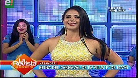 Kasandra I reina del carnaval de la Villa Primero de Mayo