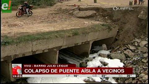 Puente del barrio Julio Leigue colapsó