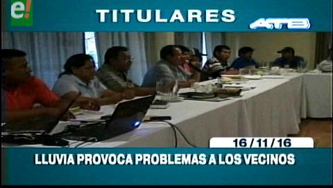 Titulares de TV: Amdecruz ratifica bloqueo de carreteras