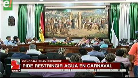 Concejal sugiere restringir el uso de agua los días de carnaval