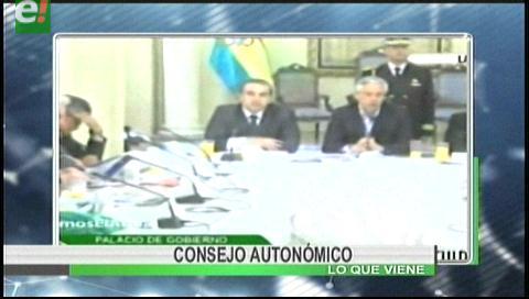 Titulares de TV: Se realiza la quinta reunión del Consejo Autonómico en La Paz