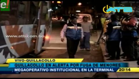 Continúan operativos en Quillacollo para evitar fuga de menores