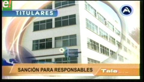 Titulares de TV: Gobierno anuncia juicio por el agua a exautoridades de Epsas
