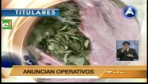 Titulares de TV: Gobierno confirma la presencia de carteles de droga en Bolivia