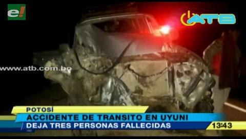 Accidente de tránsito en Uyuni dejó tres muertos