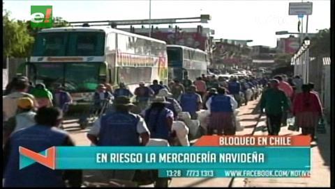 Bloqueo en la Frontera con Chile pone en riesgo la mercadería navideña