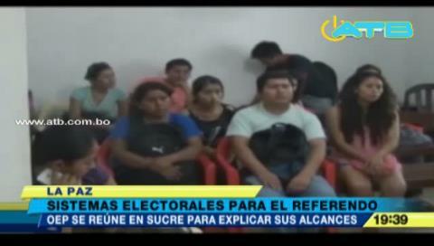 OEP pondrá en práctica los sistemas electorales para los referendos autonómicos