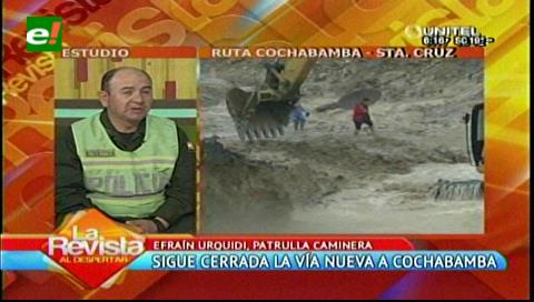 Patrulla caminera pide tomar previsiones en el tramo Santa Cruz-Cochabamba