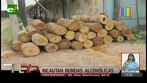 Pretendían ingresar 76 cajas de cerveza a Palmasola escondidas en troncas