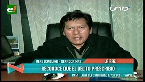 Senador Joaquino reconoce que el delito penal contra Samuel Doria Medina prescribió
