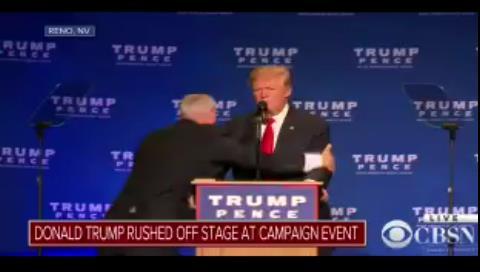 Incidente en un acto de Trump: Sacan al candidato del escenario por seguridad