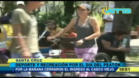 Actividades deportivas amenizaron el Día del Peatón en Santa Cruz