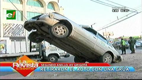 Propietario del vehículo accidentado en tendido eléctrico culpa a su mecánico