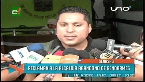 Senasag reclama a la Alcaldía por el abandono de gendarmes en un operativo en La Ramada