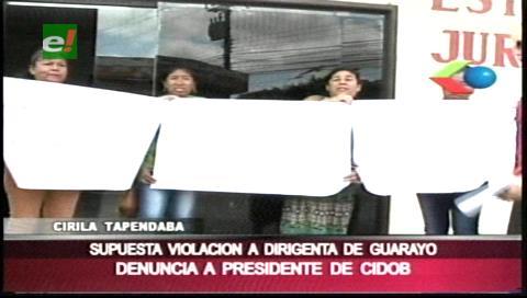 Denuncian por violación al presidente de la Cidob