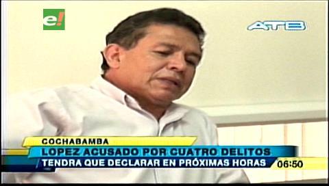 Rolando López es acusado por cuatro delitos