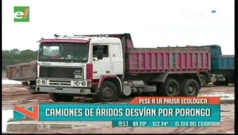 En zona de Porongo del Río Piraí: Dragueros operan fuera de la zona permitida
