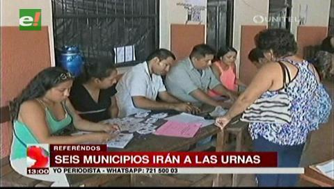 En Santa Cruz cinco municipios definirá su carta orgánica y uno votará sobre autonomía indígena