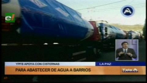 Cisternas de YPFB llega a La Paz para distribuir agua a zonas con racionamiento