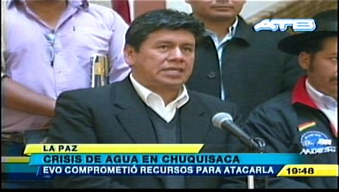 Evo Morales prometió recursos para luchar contra la sequía en Chuquisaca