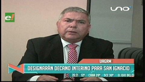 Uagrm designará decano interino a San Ignacio de Velasco