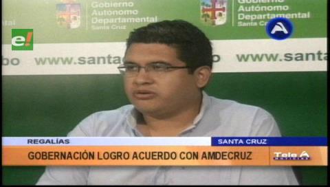 Gobernación logró acuerdo con Amdecruz y apunta al Pacto Fiscal