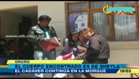Oruro: Encontraron el cuerpo de la pequeña Sheyla en Sabaya