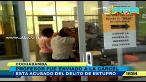 Cochabamba: Envían a El Abra a profesor acusado de estupro