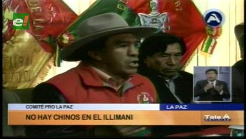 Comité Cívico Pro La Paz descarta operatividad de empresas chinas en el Illimani