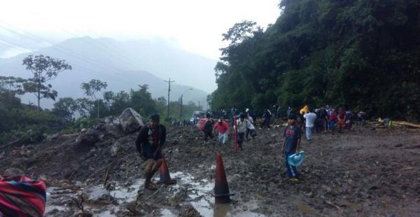 Las lluvias provocaron un deslizamiento en la zona de Locotal hace unos días