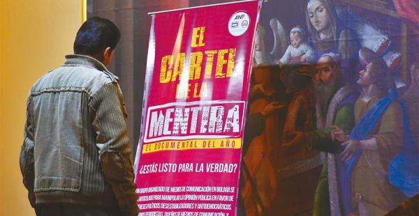 El documental fue presentado ayer en diferentes salas de cine del país y en algunos canales de TV