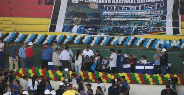 El noveno congreso del MAS se realiza en la ciudad de Montero