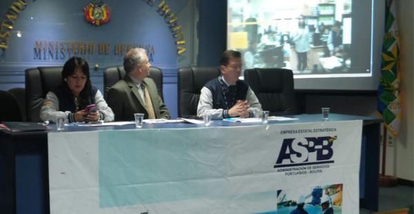 Autoridades de la ASP-B durante el acto de rendición de cuentas públicas
