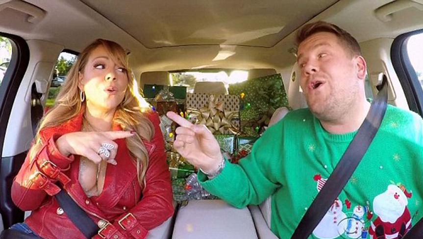 Mariah Carey, en el coche más famoso del mundo.
